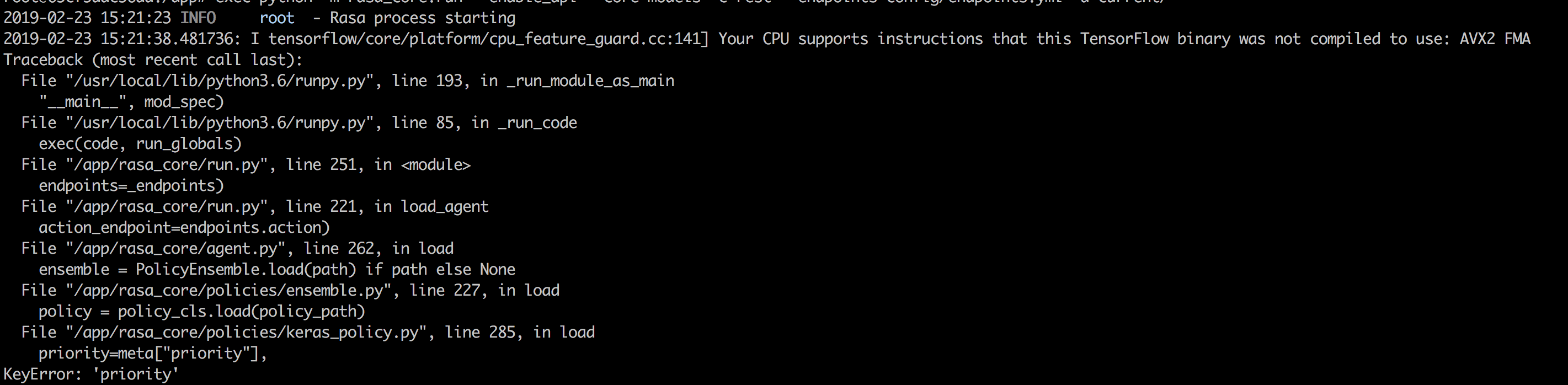 Error: Your CPU supports instructions that this TensorFlow